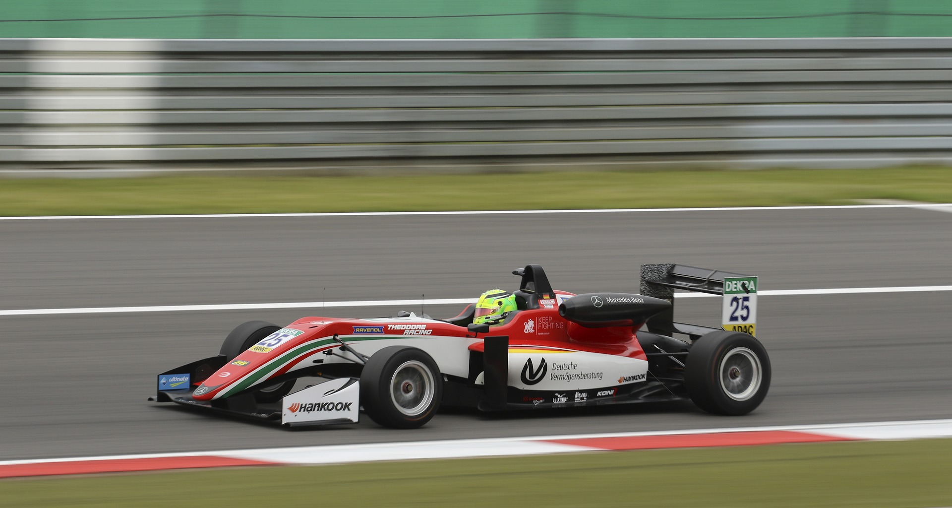 Formula 1 testing- one of second test in car race